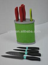 colorful kitchen knife set
