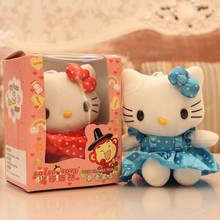 with beautiful dress plush electrical recording Hello Kitty / plush toy for kids / voice recording plush animal