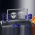 Aniversario crystal placa de cristal k9 palque cartel diseño 2d laser graba