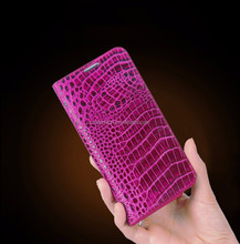 Customize Fashion genuine leather with Crocodile pattern case for iphone 6 6plus