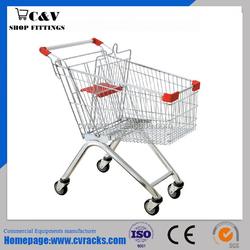 Euro style shopping trolley 101L((plastic powder coating)
