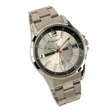 New Mens Silver Stainless Steels Fashion Classic Date Display Quartz Watch WM166