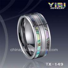 De moda de tungsteno anillo de bodas, clásico anillo de tungsteno, apartamento amplia 10mm anillo de tungsteno