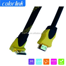 Right Angle HDMI Cable With Nylon Mesh Support Etherent 1.4V