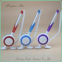 2015 mix colors small MOQ Promotional Plastic Table pen, Desk Stand Ball Pen, Counter pen