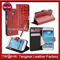 PU Crocodile Style Leather Credit Card Wallet Flip Case Cover Stand For Samsung Galaxy S4 Mini i9190