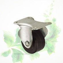 Low Gravity Top Plate Swivel Furniture PP Fixed Caster Wheels