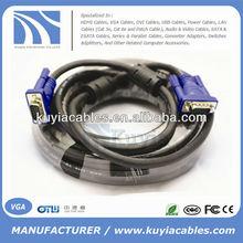 Gold plated/nickelPlated HD15pin 3+6 VGA to VGA Cable for Projector,LCD 1.5m,1.8m,2m,3m,5m,10m,20m,30m,40m,50m,60m...