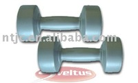 Plastic cement filled dumbbell