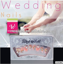 Alpha Accessories New Arrivals Salon DIY Nail Tips, Full Cover False Stiletto Nails,with Stone, Nail Art