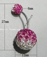 Gets.com crystallized gold plated belly rings