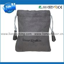 OEM Cosmetic Bag, Women Use Tassels Drawstring Faux Pouch