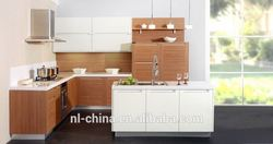 Contemporary Frameless wood kitchen cabinets fitted kitchen