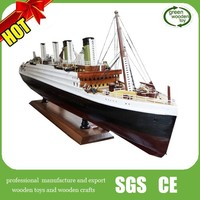 2014 Titanic ship model for sale , Titanic wooden ship model with light,wooden ship model