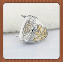 alibaba express Indonesia fashion jewelry titanium gemstone ring without stone