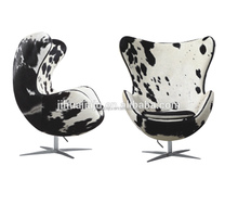 Replica Arne Jacobsen Cow Hide Leather Egg Shape Chair