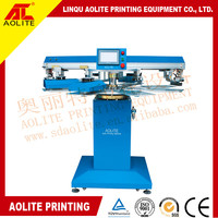 2 colors small automatic screen printing machine for t shirt neck label