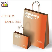 orange customized color and size shopping paper bag ,women's bag