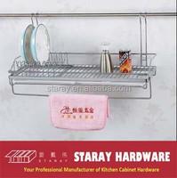 HCJ715 Kitchen hanging dish plate & towel rack