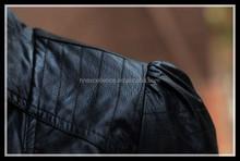 2015 new sexy womens girls moto biker pu leather jacket coat trench outwear