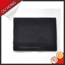 New 2016 Fashion Embossed Jeans Branded Leather Patch