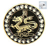 2015 Wholesale Cheap Rhinestone Ball Marker With Chinese Dragon for Golf Club