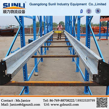 Automatic Remoted Radio shuttle racking for steel shelf