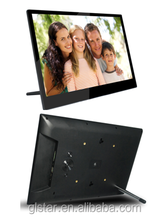 big screen 14 inch digital photo frame support music/video/movie, OEM