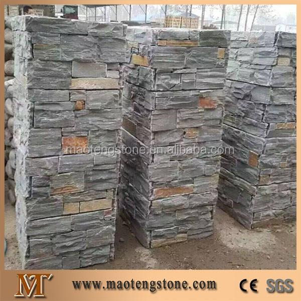 Piedras de chapa para la pared exterior de la casa para decorar fachadas barato piedra cultivada - Precio de piedra para fachada ...