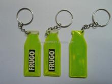 bottle shape reflective keychain for promotion