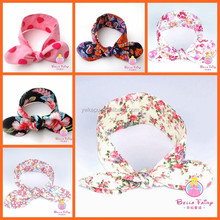 New coming Baby girls cotton Floral Headband infant toddler girls flower hariband children floral headband