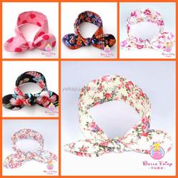 New coming Baby girls cotton Floral Headband infant toddler girls flower hariband children floral headband