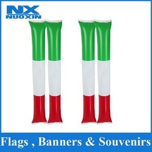 customized size plastic and PE italy flag inflatable stick green white red inflatable stick national flag inflatable stick