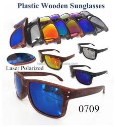 2015 Wholesale Plastic Fashionable Polarized Wooden Sunglasses