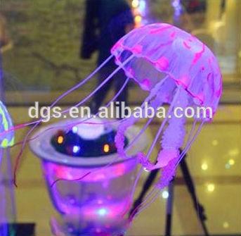 las medusas que brilla intensamente vivo artificial medusas pescado decoración del acuario pecera decroation