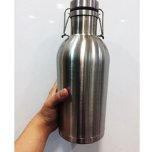 2015 bar product double wall 1L 32oz 2L 64oz copper growlers growler beer bottle costume 64 oz water bottle 32 oz water bottle