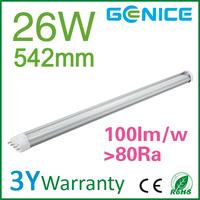 shenzhen 26W 100-277V SMD2835 led pl light fittings