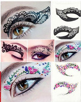 Customized lace eye tattoo sticker temporary makeup eyeliner sexy eye shadow