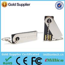 Laser Logo Aluminum Mini Capless USB Flash Drive, USB Flash Disk, Memory Stick for Promotion