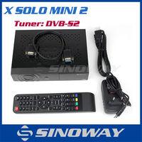 Digital Mini HD Satellite Receiver X SOLO MINI 2 Linux OS iptv Streaming MPEG2-4/H.264 Hardware decoding
