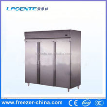 Stainless steel vertical hiller deep freezer curved glass door chest freezer of Xuzhou Sanye