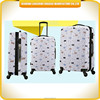 2015 newest cartoon Luggage suitcase bag ABS material travelling luggage bag with 4 wheels