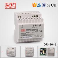 AC to DC transformer 60w single output din rail ac/dc power supply 5v