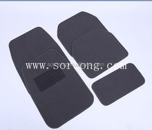Universal car floor mat, cheap carpet car mt sold in 4/5 pcs