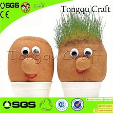 Mini custom gift ideas grass head craft printed promotional gifts , promo gift