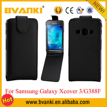 Alibaba Sales Mobile Cover Case for Samsung Galaxy Xcover 3 G388F Hot Black Flip Leather Case Cover Pouch,Waterproof Case