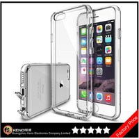 Keno All New Dust Free Cap & Drop Premium Crystal Clear Back Shock Absorption Bumper Hard Case for iPhone 6 Plus 5.5 Inch