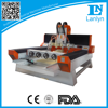 Lanlyn 1325 4 axis 3d cnc router for decoration wood craft artificial stone need distributors