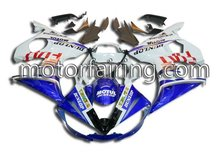 YZF R6 03-05 fairing 2003 2004 2005 bodykits/bodywork/fairing kit ABS plastic blue/white