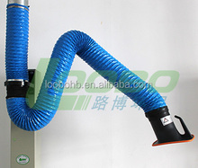 Fire prevention and high temperature resistant flexible fume extraction arm